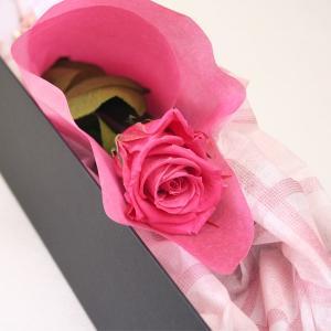 プリザーブドフラワー バラ 一本バラ 薔薇 ローズ ピンク プレゼント ギフト
