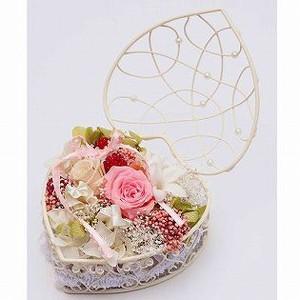 リングピロー プリザーブドフラワー ワイヤーバスケット バラ ローズ ギフト プレゼント 結婚祝い|bluelace