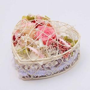 リングピロー プリザーブドフラワー ワイヤーバスケット バラ ローズ ギフト プレゼント 結婚祝い|bluelace|02