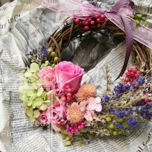 リース 花 プリザーブドフラワー ギフト リース|bluelace
