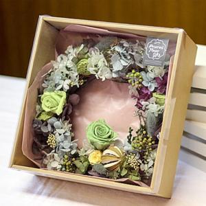 母の日 プリザーブドフラワー リース 花 アレンジメント バラ ギフト プレゼント【送料無料】|bluelace