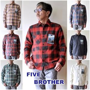 ファイブブラザー  FIVE BROTHER  フランネル ワークシャツ  151960  ヘビーオ...