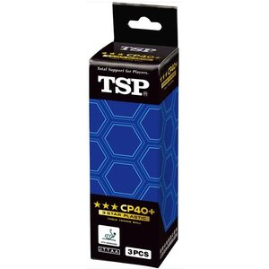 【卓球ボール】TSP(ヤマト卓球) CP40+3 スターボール 3ケ入箱 014049【350】|bluepeter