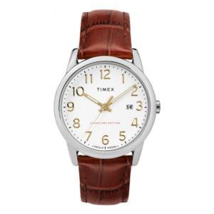 【腕時計】 TIMEX イージーリーダー シグネチャー38mm ライトブラウンデイト TW2R65000【542】 bluepeter