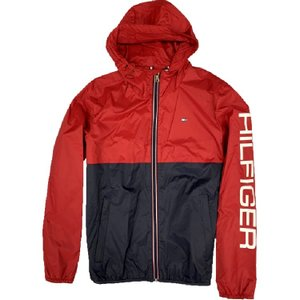 【TOMMY HILFIGER】 COLOR BLOCKED RAIN SLICKER 158AN416 RED/NAVY【790】|bluepeter