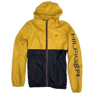 【TOMMY HILFIGER】 COLOR BLOCKED RAIN SLICKER 158AN416 YELLOW/NAVY【790】|bluepeter