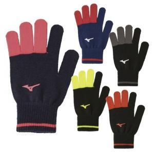 【ランニングアクセサリー・冬物】MIZUNO(ミズノ) 手袋(のびのび)ニットグローブ 32JY9502【350】|bluepeter