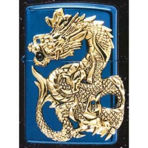 【Zippoライター】ドラゴンメタル BLUE 限定 MP-104395【546】 bluepeter