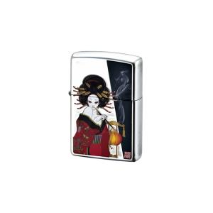 【Zippoライター】JAPANESE STYLE 煙管と女【546】 bluepeter