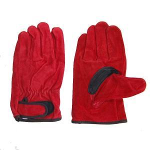 【作業手袋】K-WORK 内綿レインジャー革手 970赤 【410】|bluepeter