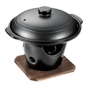 【生活雑貨 鍋】パール金属 和ごころ懐石 陶板焼きコンロ付きセット HB-5222【590】 bluepeter