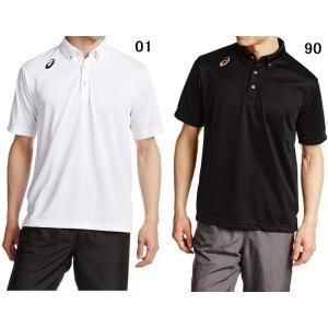 【ゴルフウエア】ASICS(アシックス) ボタンダウン 半袖ポロシャツ XA103N【350】|bluepeter