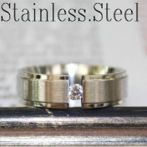 リング/指輪/シンプル甲丸リング/ワンポイントキュービック/ステンレス製/6mm幅|bluestar-shop|04