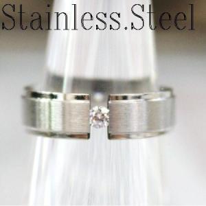 リング/指輪/シンプル甲丸リング/ワンポイントキュービック/ステンレス製/6mm幅|bluestar-shop|05