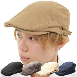 ハンチング メンズ ハンチング帽子 ハンチング帽 帽子 ゴルフ おしゃれ シンプル 夏 ギフト プレゼント スタッフ カジュアル 敬老 綿 コットン 黒 紺 男 父の日|bluestyle