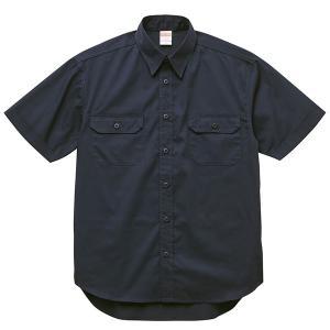 シャツ メンズ レディース 半袖 ワークシャツ 紺 ネイビー ビジネス 制服 胸ポケット 無地 ペン差し カジュアル ポケット おしゃれ カラーシャツ クールビズ 男|bluestyle