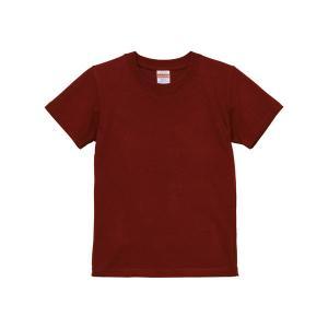 Tシャツ キッズ ボーイズ ガールズ 半袖 無地 uネック 厚手 綿100 シャツ tシャツ スポーツ 子供 クルーネック 男 女 90 100 110 120 130 140 150 160 赤 ワイン|bluestyle