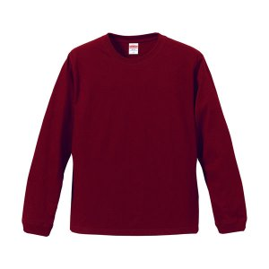 Tシャツ メンズ レディース 長袖 無地 uネック 綿 綿100 大きい 厚手 シャツ tシャツ スポーツ ブランド トップス クルーネック 男 女 xs s m l 2l 3l ワイン 赤|bluestyle