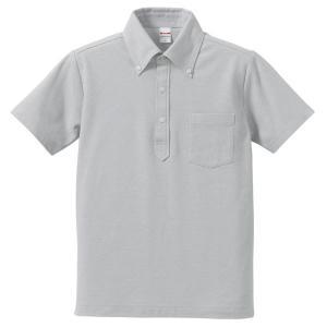ポロシャツ メンズ レディース 半袖 シャツ ブランド ドライ 無地 大きい 小さ UVカット スポーツ 鹿の子 男 女 消臭 速乾 xs s m l 2l 3l 4l 5l ポケット 灰色|bluestyle