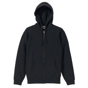 パーカー メンズ レディース 黒 ブラック s m l xl xxl 2l 3l スウェット 無地 フルジップ 裏起毛 厚手 ジップアップ コットン 綿 大きい 長袖 フード トップス|bluestyle