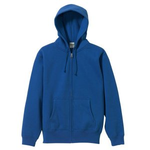 パーカー メンズ レディース 青 ブルー s m l xl xxl 2l 3l スウェット 無地 フルジップ 裏起毛 厚手 ジップアップ コットン 綿 大きい 長袖 フード トップス bluestyle