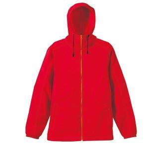 ジャケット メンズ レディース 赤 レッド s m l xl 2l ブルゾン ナイロン 防寒 フード アウター 秋 冬 防風 撥水 無地 ジャンパー カジュアル 大きい 大人 男|bluestyle