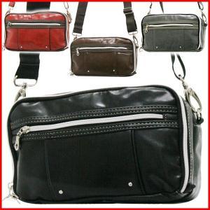 ショルダーバッグ メンズ レディース 斜めがけ 小さめ ミニ 大容量 おしゃれ 横型 人気 合皮 斜め掛け 旅行 黒 赤 ユニセックス 男 女 フェス バッグ 鞄 肩掛け|bluestyle