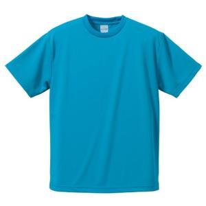 【商品名】 UVカット吸汗速乾ドライ Tシャツ CB5900 ターコイズ ブルー L 【 5枚セット...