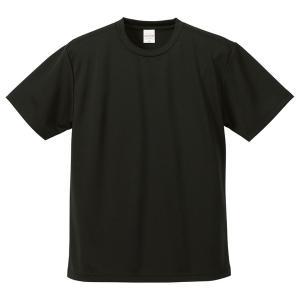 【商品名】 UVカット・吸汗速乾・5枚セット・4.1オンスさらさらドライ Tシャツ ブラック XXX...