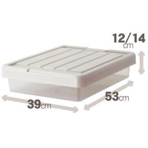 収納ケース/小物収納ボックス 〔スリムボックス〕 幅39×奥行53×高さ12/14cm 『Fits ...