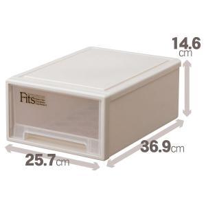 収納ケース/小物収納ボックス 〔ミニ〕 幅25.7×奥行36.9×高さ14.6cm A4サイズ 『F...