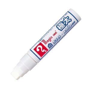 【商品名】 (まとめ) 寺西化学 油性ペイントマーカーマジックインキ ホワイト・white SR 極...