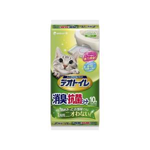 (まとめ)1週間消臭・抗菌デオトイレ 消臭・抗菌シート 10枚〔×12セット〕〔ペット用品・猫用〕