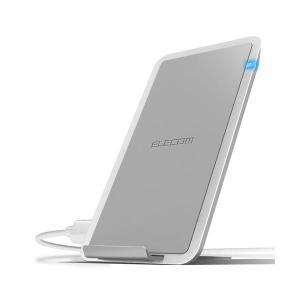 【商品名】 エレコム Qi規格対応ワイヤレス充電器/5W/10W/スタンド/卓上/ホワイト W-QS...