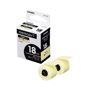 【商品名】 (まとめ) カシオ メモプリンター メモプリ付箋テープ 18mm幅×5m イエロー XA...