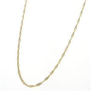 《国産・24金》 K24 純金スクリューネックレス 42cm