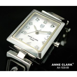 腕時計 レディース アンクラーク ANNE CLARK おしゃれ シルバー カラーストーン ステンレス トランプ かわいい ギフト プレゼント レディース時計 時計 ホワイト|bluestyle