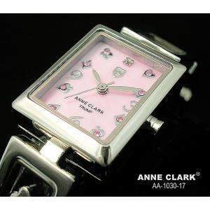 腕時計 レディース アンクラーク ANNE CLARK おしゃれ シルバー カラーストーン ステンレス ピンク トランプ かわいい ギフト プレゼント レディース時計 時計|bluestyle