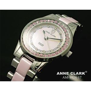 腕時計 レディース アンクラーク ANNE CLARK おしゃれ ピンク ラインストーン ステンレス ダイヤ かわいい ギフト プレゼント レディース時計 天然シェル 時計|bluestyle