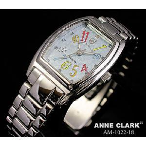 腕時計 レディース アンクラーク ANNE CLARK おしゃれ ステンレス シルバー カラーストーン 時計 ダイヤ かわいい ギフト プレゼント レディース時計 女 メンズ|bluestyle