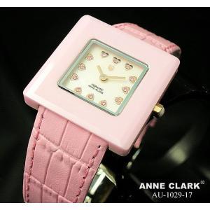 腕時計 レディース アンクラーク ANNE CLARK 本革 おしゃれ ハート ピンク セラミック かわいい ギフト プレゼント レディース時計 時計 革 三つ折り金具 人気|bluestyle