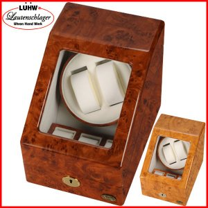 ワインディングマシーン 2本 マブチモーター エスプリマ LED 自動巻き時計 腕時計 ウォッチ 自動巻き メンズ レディース 時計 ワインダー ワインディングマシン|bluestyle