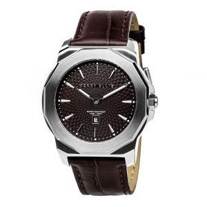 腕時計 メンズ レディース PERRY ELLIS DECAGON おしゃれ ユニセックス ビジネス ブラック 革ベルト 男 女 アナログ メンズ腕時計 カジュアル ペリーエリス 茶色|bluestyle