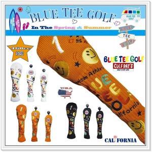 ブルーティーゴルフ BLUE TEE GOLF 【スマイル&ピンボール】 キャットハンドタイプ ニット ヘッドカバー