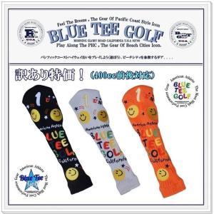 【訳あり特価♪】ブルーティーゴルフ BLUE TEE GOLF 【スマイル&ピンボール】 Dr400-420cc 前後対応ニット ヘッドカバー