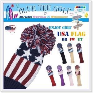 ブルーティーゴルフ BLUE TEE GOLF 【USAフラッグ】 ニット ヘッドカバー