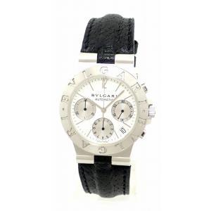 (ウォッチ)BVLGARI ブルガリ ディアゴノ スポーツ クロノ デイト K18WG ホワイトゴールド ホワイト文字盤 メンズ オートマ 自動巻 腕時計 CHW35GLD(u)|blumin