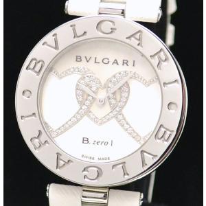 (ウォッチ)(新品仕上げ済) BVLGARI ブルガリ B.zero1 B-zero1 Bzero1 ビーゼロワン ハート ダイヤモンド シェル BZ35WHDSL/2 クォーツ 腕時計(k)|blumin