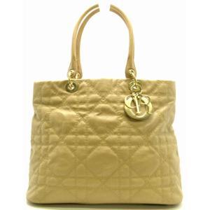(バッグ)Christian Dior クリスチャンディオール カナージュ ファブリック メトロポール 09-BO-1029 ハンドバッグ ベージュ(u) blumin