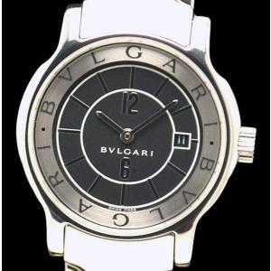 (ウォッチ) BVLGARI ブルガリ ソロテンポ ST29S 黒文字盤 レディース クォーツ 腕時計(u)|blumin